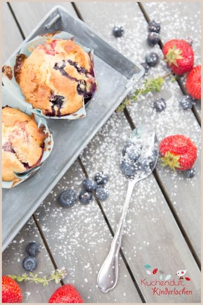 blaubeer erdbeer muffins weiße schokolade 6